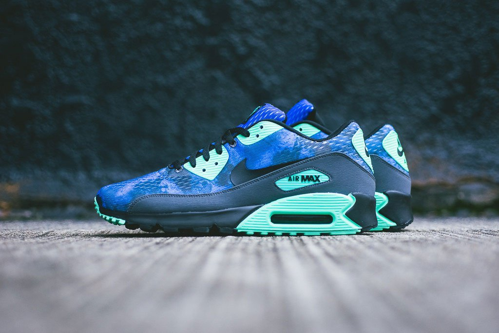 Best Price Mens Nike Air Max 90 Glow - Nike Air Max 90 Glow In The Dark Blue Nikes Discount