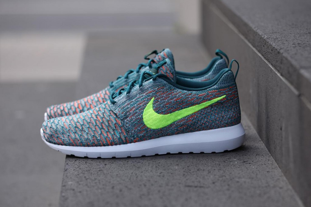 nike roshe flyknit mineral teal young california. Black Bedroom Furniture Sets. Home Design Ideas