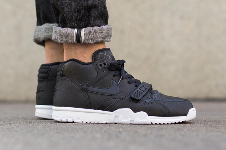 new product f2625 16e4f nike-air-trainer-1-mid-matte-black-1