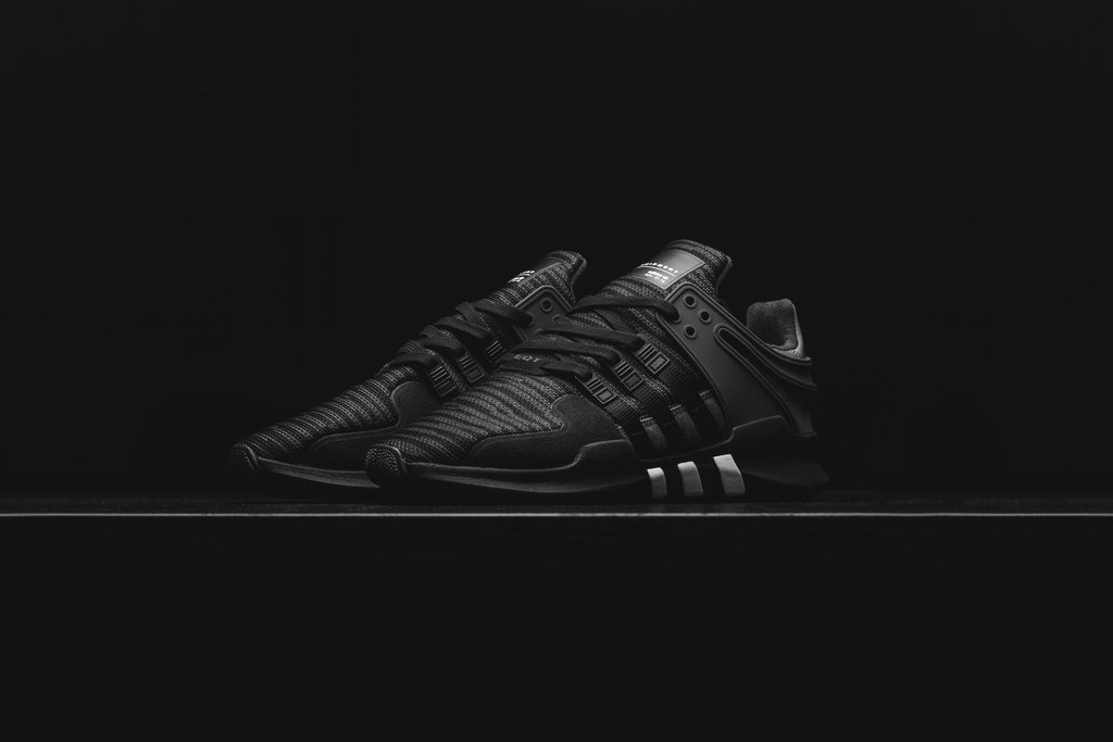 "detailed look b715c dfcd7 adidas Originals EQT Support ADV ""All Black"" 