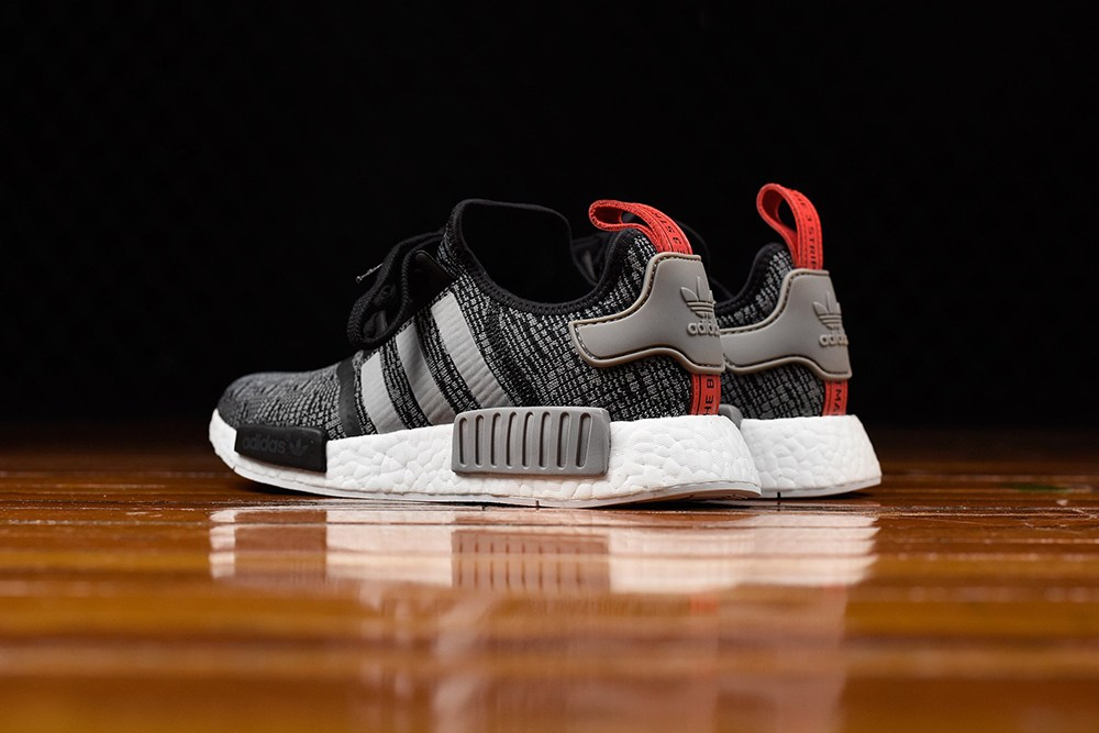 Adidas NMD R1 Primeknit Tri Color Grey/White SZ 11 Boost Cream V2