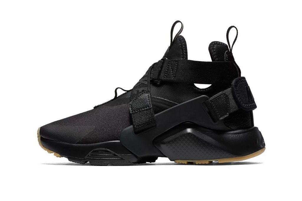 9c38e455786 The Air Huarache City features a slick neoprene and multi-textile upper