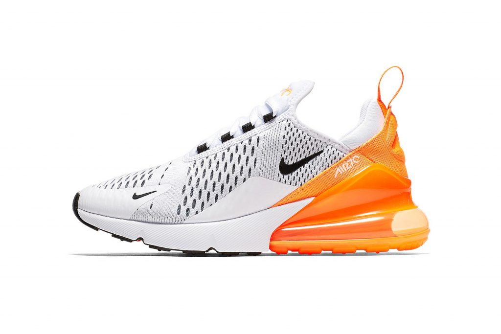 "466dffa06c Following in the footsteps of the ""Flight Gold"" colorway, Nike's Air Max 270  will soon dawn a women's exclusive white, black and orange iteration."