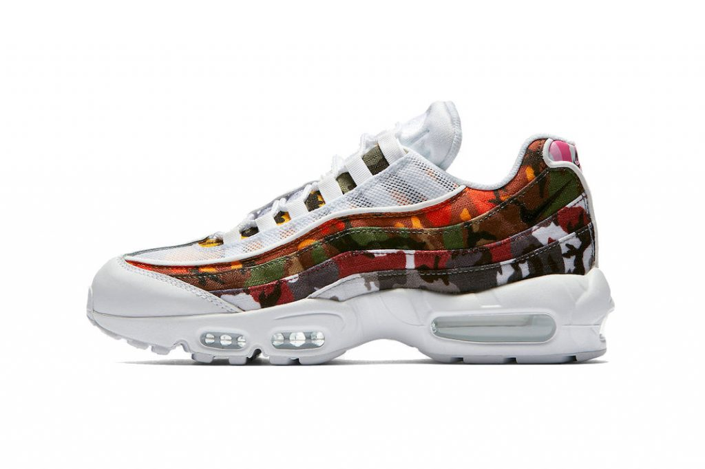 af406618189fc Nike takes the rather ubiquitous ERDL camouflage pattern and gives it an  array of colorful makeovers in this Air Max 95 pack. Developed in the  1940 s by the ...