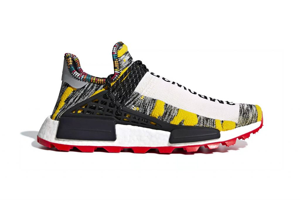 64162c4b8145c This tribal-inspired set features two colorways of a grey and yellow upper  with a red outsole