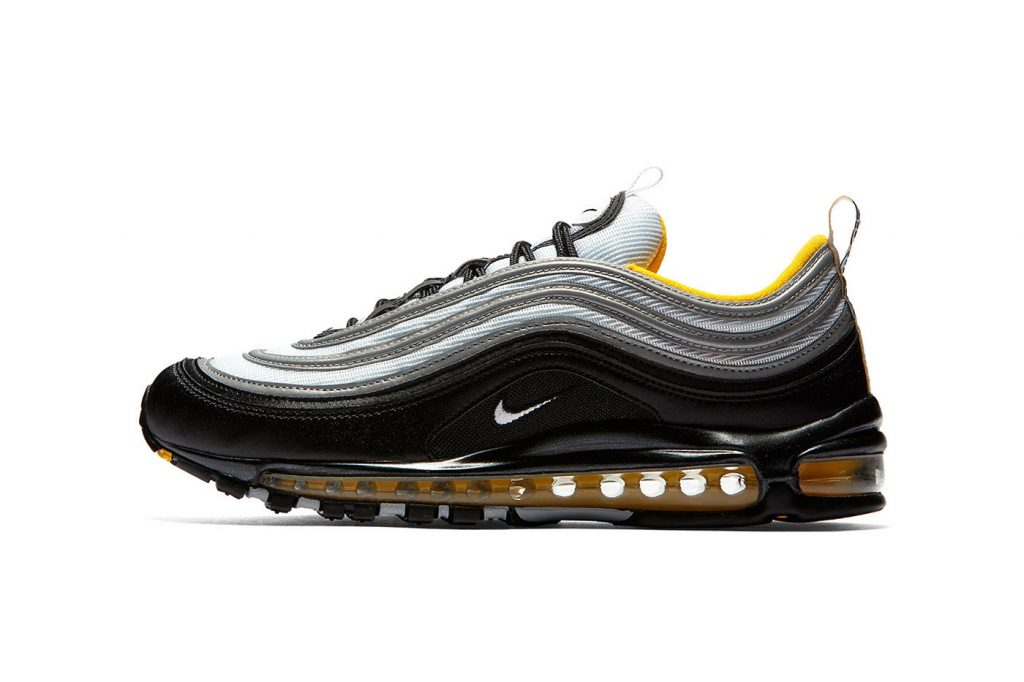 e24b91aec0e2d Nike s Air Max 97 has returned with a new colorway offering. One of the  most popular Air Max models sees a mix of black and silver throughout with  subtle ...