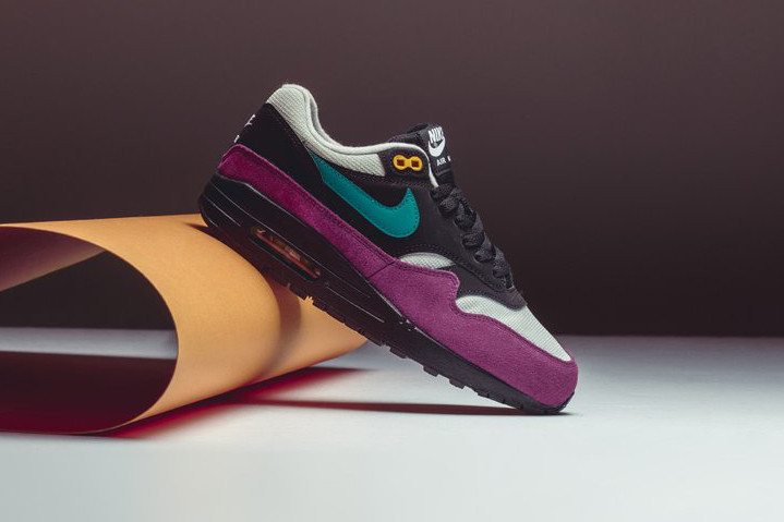 best service 63e29 68207 Nike  Air Max 1 receives yet another colorway, this time sharing an  ACG-like mix of black, silver, bordeaux, geode teal and a hint of yellow.